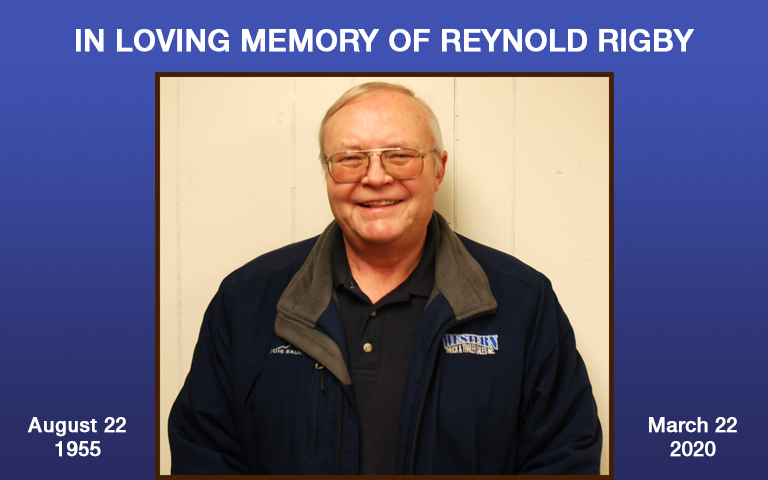 In loving memory of Reynold Rigby